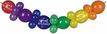 8 Ballongirlande 2 m Happy Birthday