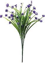 8 Bündel Künstliche Blumen Latex Grüne