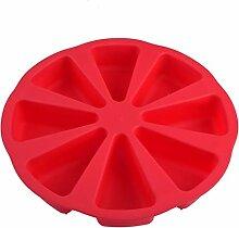 8 Cavity Scone Pfannen 3D-Silikon-Kuchen-Form DIY