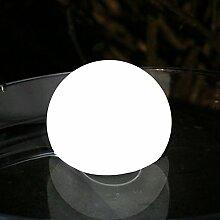 8 cm Schwimmkugel LED Leuchtkugel Schwimmleuchte - Stimmungslampe Weiß für Pool, Teich, Bad Wasserdicht von PK Green