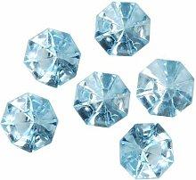 8 Dekosteine Diamanten Ø 32 mm 23 mm blau