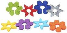 8 filz Glasmarkierungen - Blumen