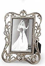 8 Frame Bilderrähmchen für Tischkarten/Tischnummern Metall , silber ca. B:6,5cm/H:8,5cm