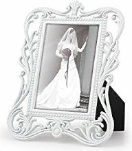 8 Frame Bilderrähmchen für Tischkarten/Tischnummern Metall , weiß ca. B:6,5cm/H:8,5cm