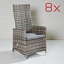 8 Gartenstühle Sevilla für die Terrasse oder