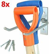 8 Gerätehalter Halterung mit Befestigungsmaterial