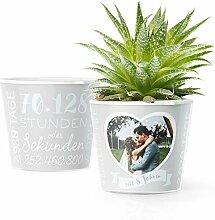8. Hochzeitstag Geschenk – Blumentopf (ø16cm) |