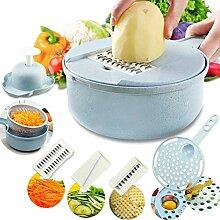 8 in 1 Gemüseschneider Kartoffelschäler Karotten