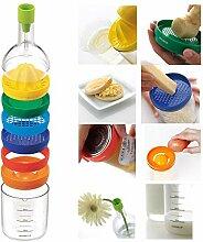 8 in 1 Saftpresse in Flaschenform aus Kunststoff,