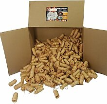 8 kg (ca. 720 Stück) Zündfüchse mit Zugloch Bio Holzwolle Anzünder Kaminanzünder Grillanzünder Ofenanzünder Holzanzünder Bioanzünder