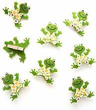8 kleine Frosch Klammern zum Dekorieren u Basteln