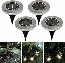 8 LED Solar Leuchte außen Garten Solarleuchte