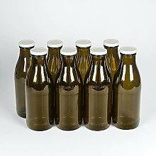 8 Milchflaschen 1 Liter mit