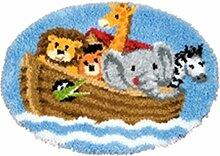 8 Modell Knüpfteppich Formteppich für Kinder und