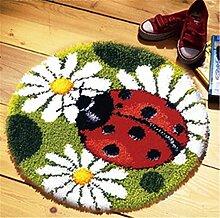 8 Modell Marienkäfer Knüpfteppich Formteppich