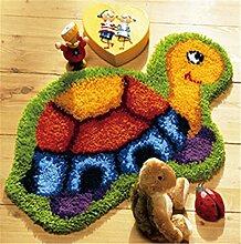 8 Modell Schildkröte Knüpfteppich Formteppich