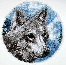 8 Modell Wolf Knüpfteppich Formteppich für