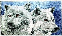 8 Modell wolf Knüpfteppich für Kinder und