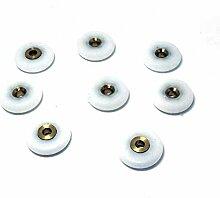 8pcs Duschtürrollen/Läufer/Rollen/Riemenscheiben 25mm Durchmesser Badezimmer Ersatzteile Weiß, Roller diameter 22mm