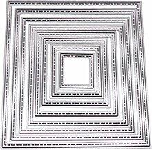 8quadratisch Metall Formen Schablone DIY Craft