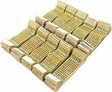 8 Reihen Silber Gold Strass Serviettenringe