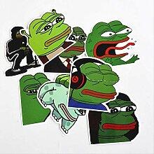 8 Sad Frog Graffiti Aufkleber Pvc Wasserdichtes