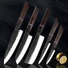 8 Sätze Küchenmesser handgemachte geschmiedete