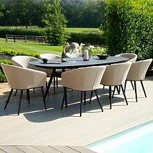 8-Sitzer Gartengarnitur Sladkowski Ebern Designs