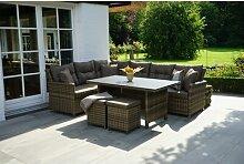 8-Sitzer Lounge-Set Antunez aus Polyrattan