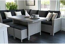 8-Sitzer Lounge-Set Chariton aus Polyrattan mit