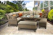 8-Sitzer Lounge-Set Crowthorne aus Rattan mit