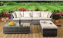 8-Sitzer Lounge-Set Marianna aus Polyrattan mit