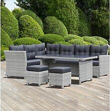 8-Sitzer Lounge-Set Rothrock aus Polyrattan mit