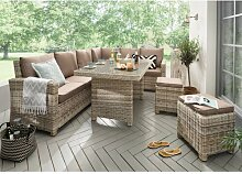 8-Sitzer Lounge Set Sansom aus Polyrattan mit