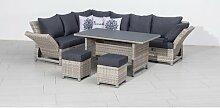 8-Sitzer Lounge-Set Torella aus Polyrattan mit