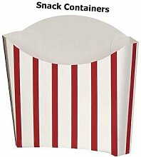 8 Snack Containers Party Red White Chips Retro Boxes Loot Treat Theme Stipe Favours Food Movie Fries by Concept4u
