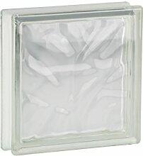 8 Stück FUCHS Glassteine Wolke Klar 19x19x5 cm