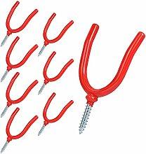 8 Stück Garten-Werkzeughaken, U-Haken,