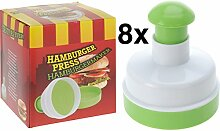 8 Stück Hamburgerpresse ø 10 cm Burgerpresse