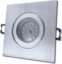 8 Stück IP44 SMD LED Bad Einbauleuchte Neptun 230