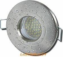 8 Stück IP54 SMD LED Bad Einbauleuchte Nautilus