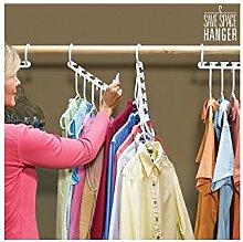 8 Stück Kleiderbügel-platzsparend-Kleiderbügel Magic gestützt auf die TV-Farbe: weiß