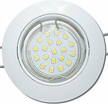 8 Stück SMD LED Einbaustrahler Fabian 12 Volt 3