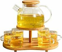 8 Stücke Temperaturbeständigem Glas Tee-Set,