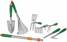 8 TLG. Gartenwerkzeug Set Inkl. Teleskopgriff