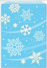 8Weihnachten Schneeflocke Frozen Leckerlibeutel Kids Kinder Party Süßigkeiten Beute Geschenk für Papier blau