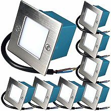 8 x 1.5W LED Wandeinbauleuchte 230V Einbaustrahler