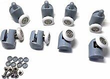 8x Dusche Tür Ersatz Läufer Räder für Rollen 19mm, 22mm, 23mm, 25mm & 27mm