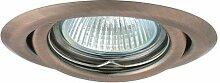 8 x Einbaustrahler schwenkbar Kupfer IP20 inkl.