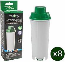 8 x FilterLogic CFL-950B - Wasserfilter für DeLonghi Kaffeemaschine - ersetzt DLS C002 / DLSC002 / SER3017 / SER 3017 / 5513292811 Filterkartusche - passend für ECAM ETAM ESAM EC685 EC860 BCO Modelle